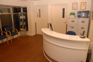 cambridge chiropodist reception room